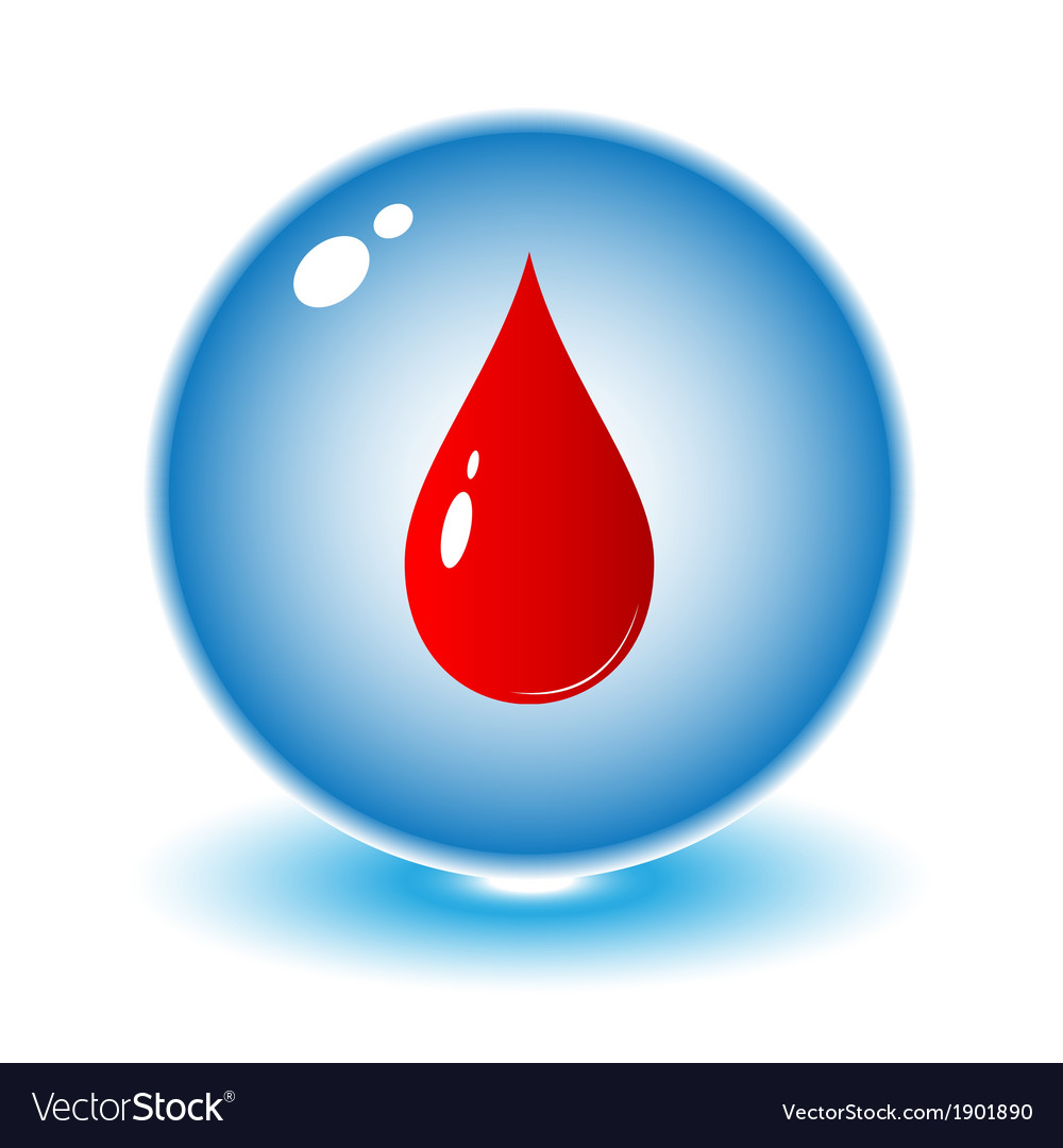 Blood drop icon vector | Price: 1 Credit (USD $1)