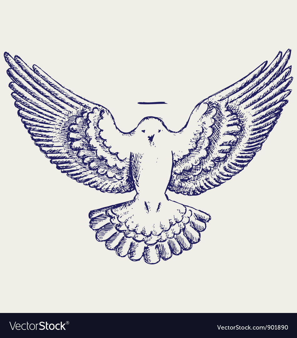 Dove symbol vector | Price: 1 Credit (USD $1)