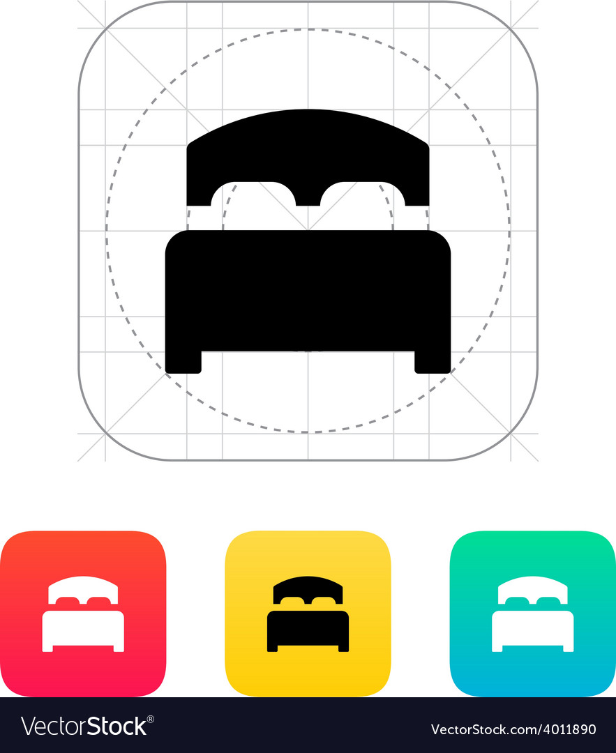 Full bed icon vector | Price: 1 Credit (USD $1)