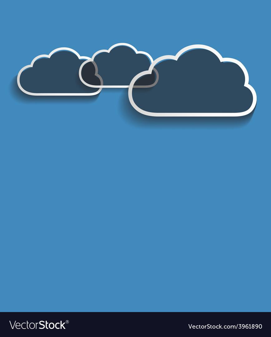 Grey clouds vector | Price: 1 Credit (USD $1)