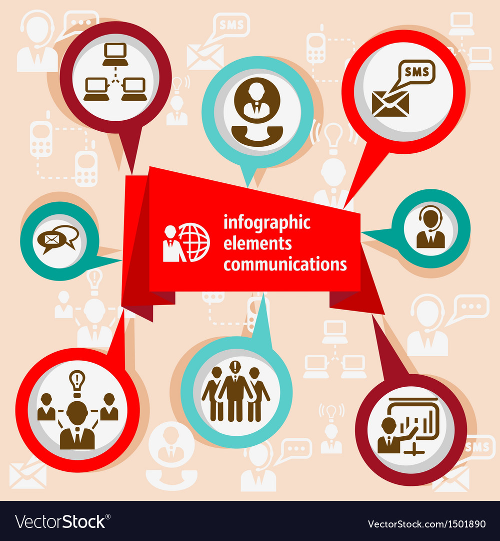 Infographic concept communication vector | Price: 1 Credit (USD $1)