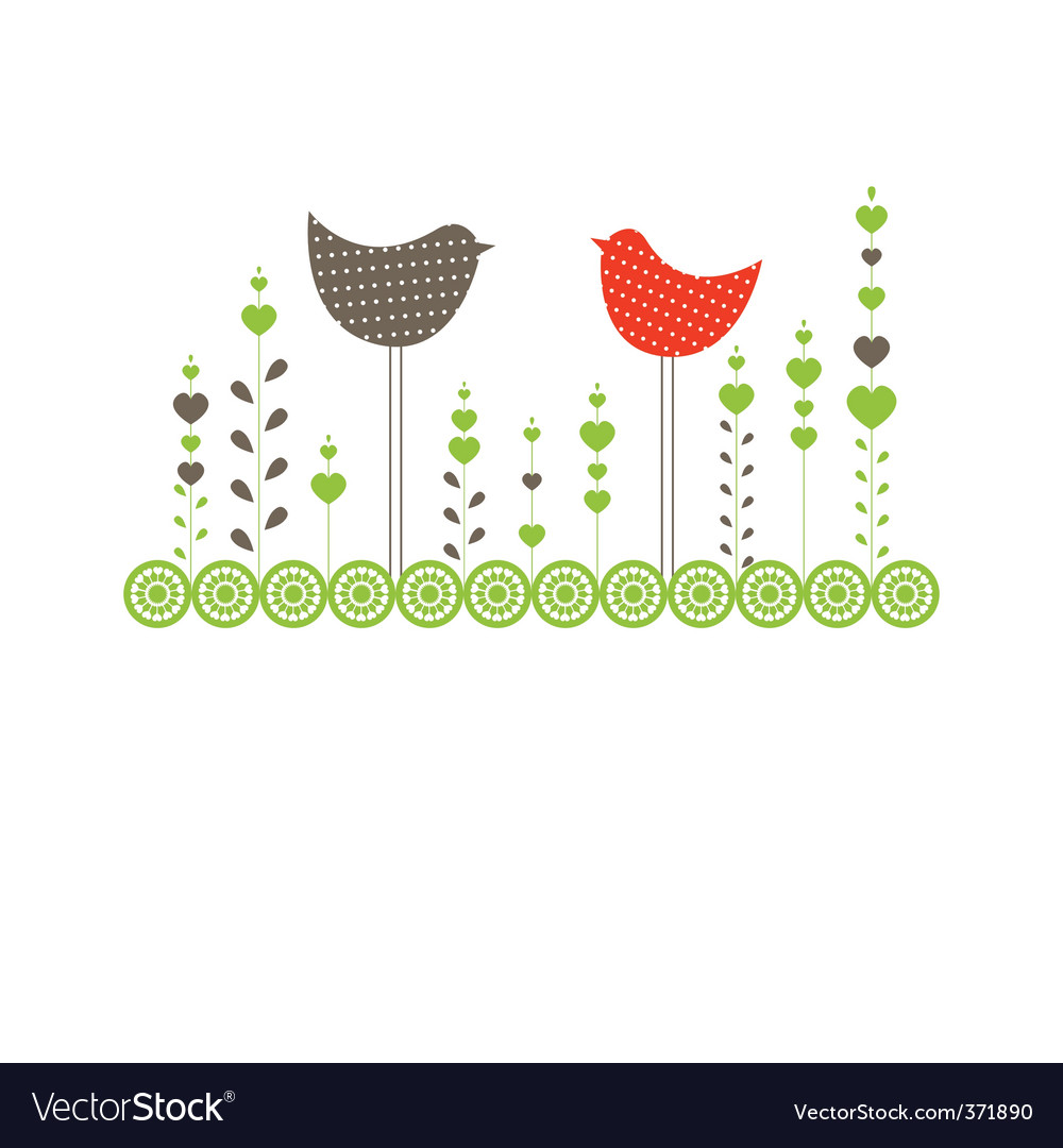 Ound with birds vector illustration vector | Price: 1 Credit (USD $1)