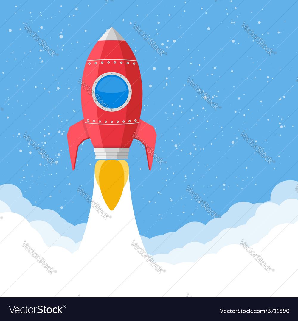 Red rocket vector | Price: 1 Credit (USD $1)