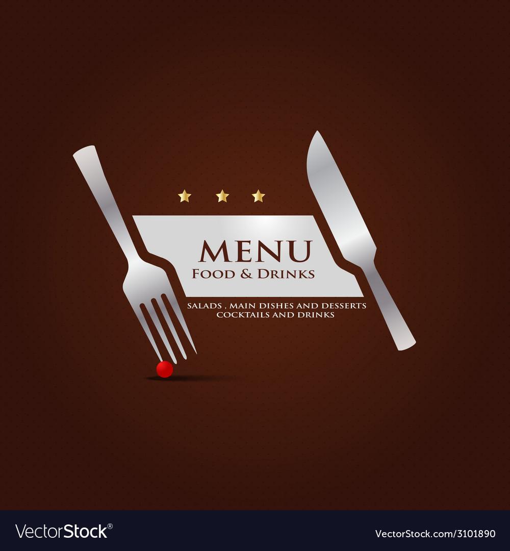 Restaurant menu cover design vector | Price: 1 Credit (USD $1)