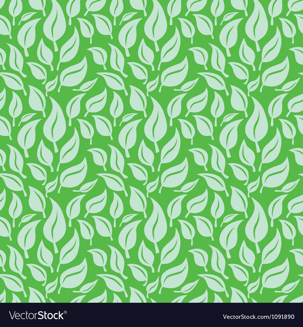 Seamless background with leaves vector | Price: 1 Credit (USD $1)