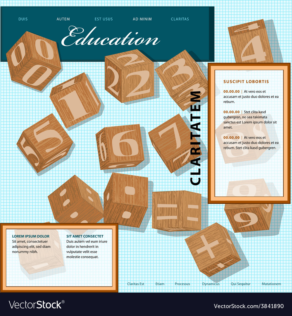 Template for education site vector | Price: 1 Credit (USD $1)