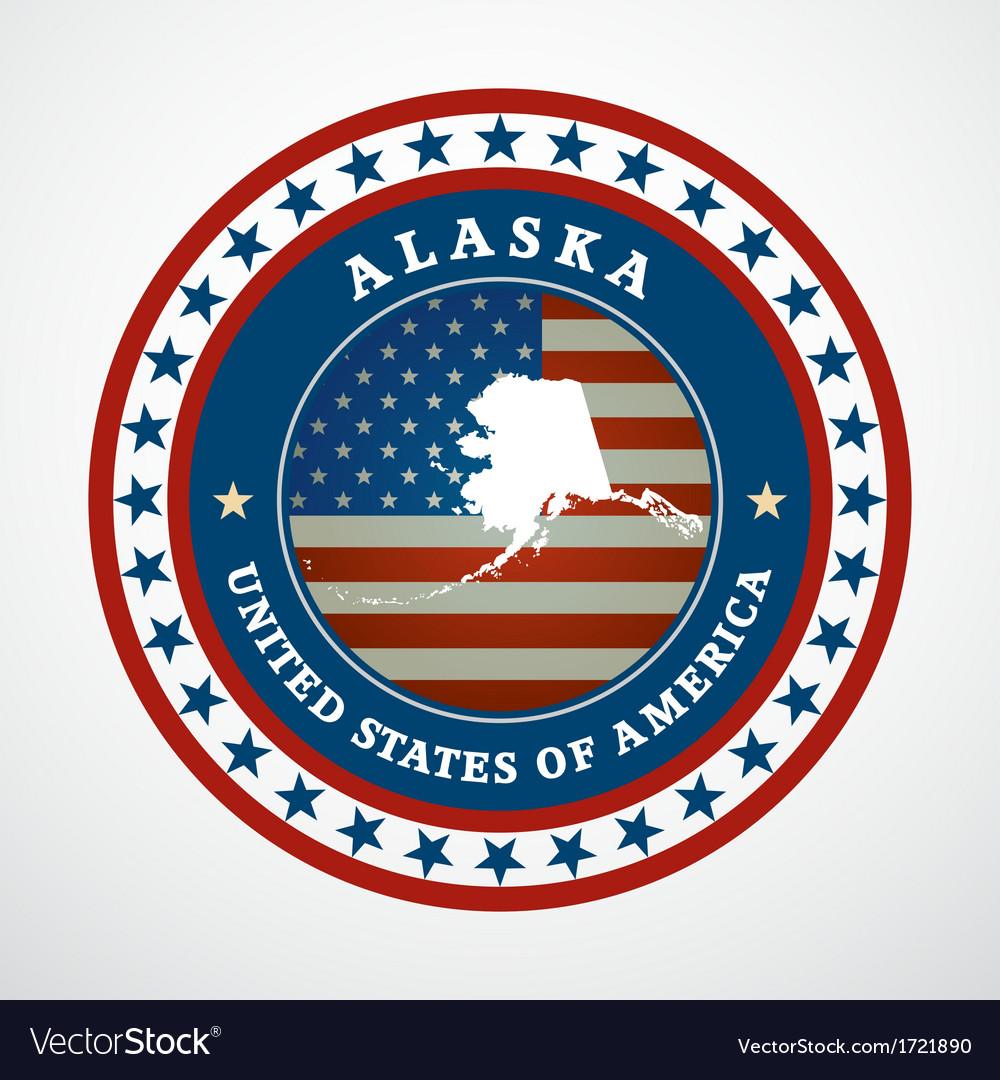 Vintage label alaska vector | Price: 1 Credit (USD $1)