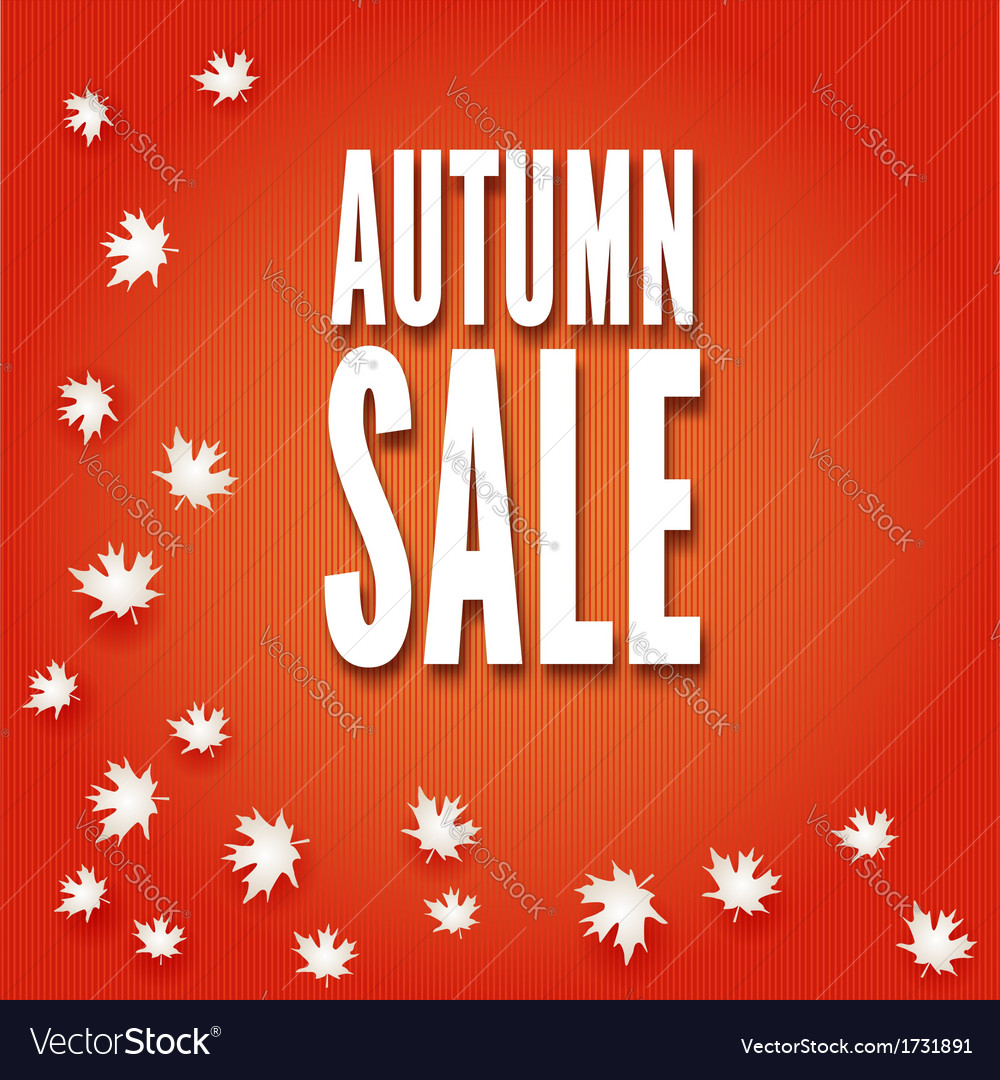 Autumn sale fall leaves vector   Price: 1 Credit (USD $1)