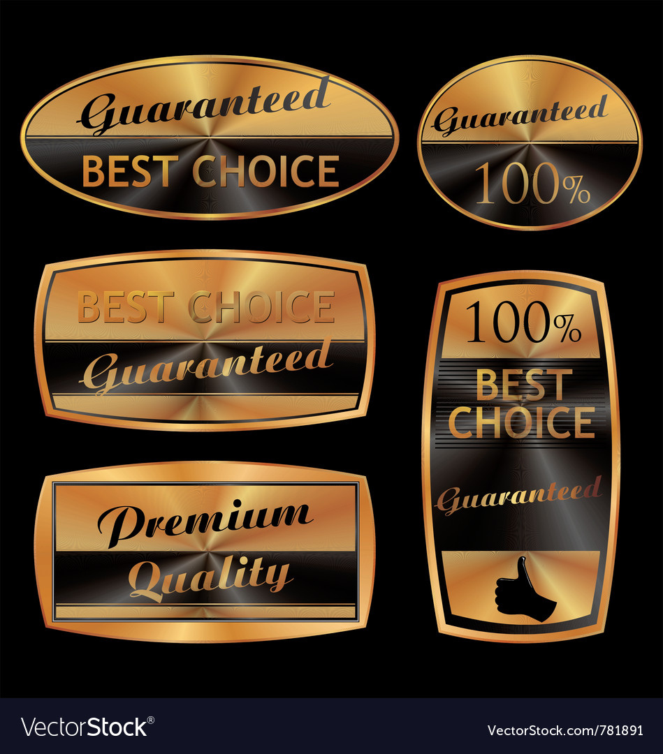 Best choice golden set vector | Price: 1 Credit (USD $1)