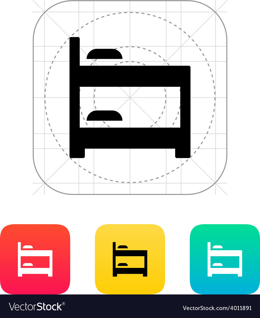 Bunk bed icon vector