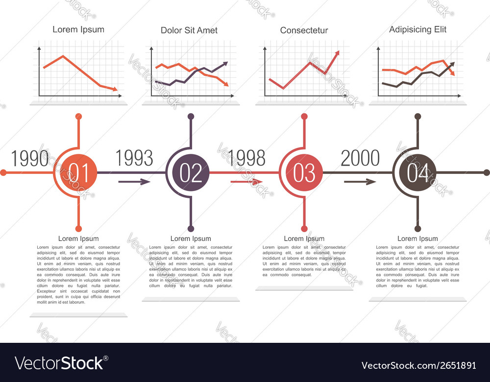 Business timeline design vector | Price: 1 Credit (USD $1)