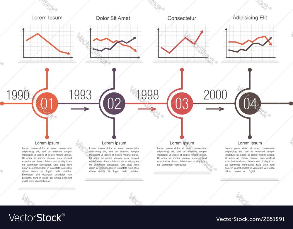 Business timeline design vector   Price: 1 Credit (USD $1)