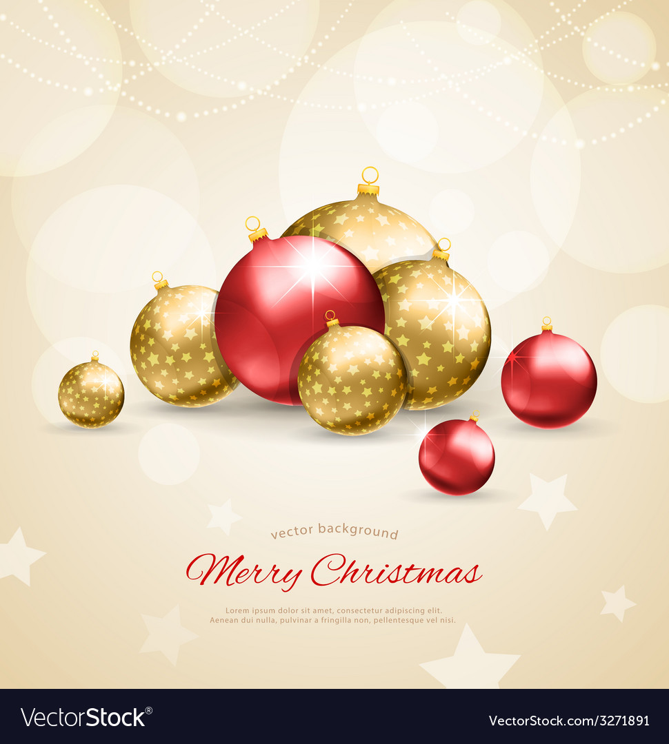 Christmas balls template background vector