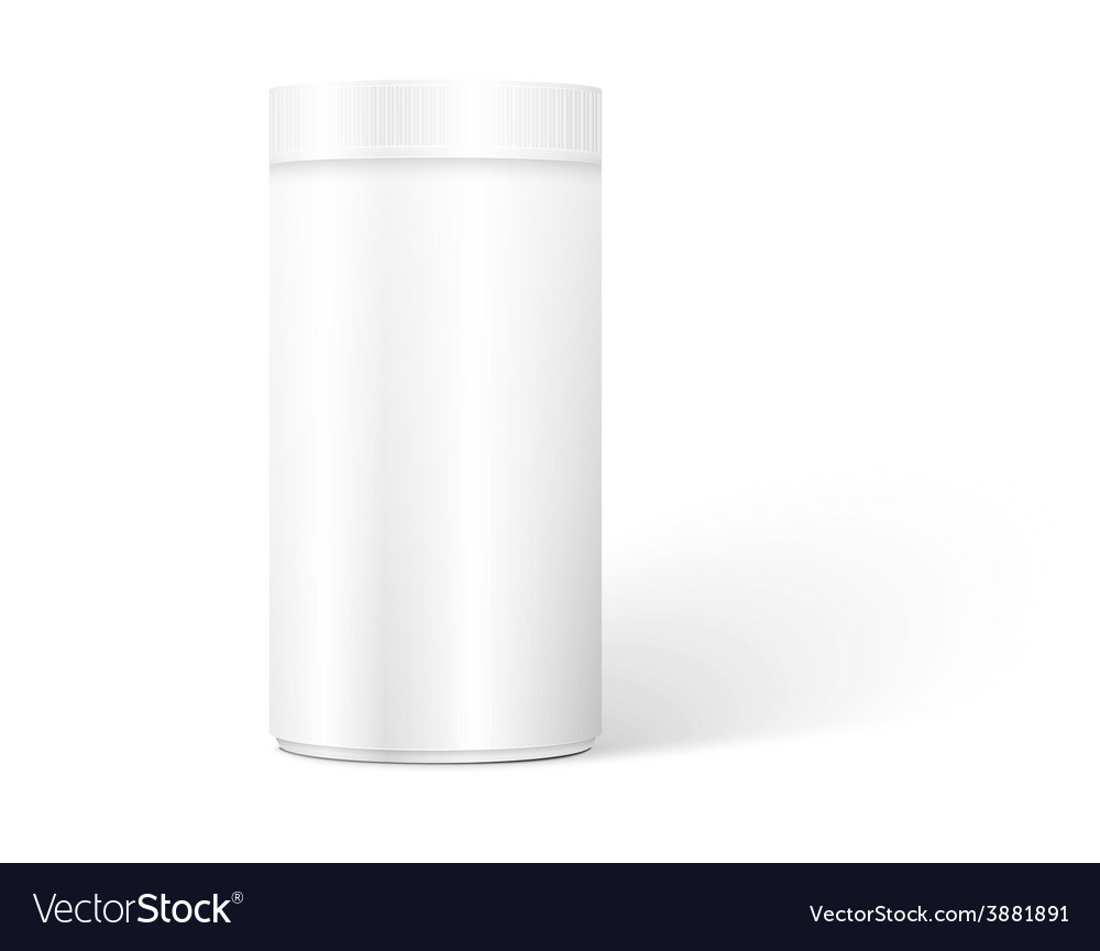 Empty white cylindrical box vector | Price: 1 Credit (USD $1)