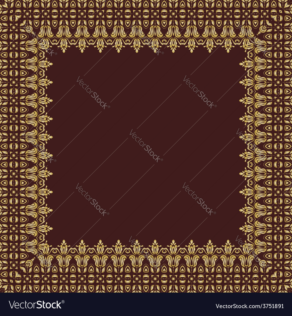 Floral fine frame vector | Price: 1 Credit (USD $1)