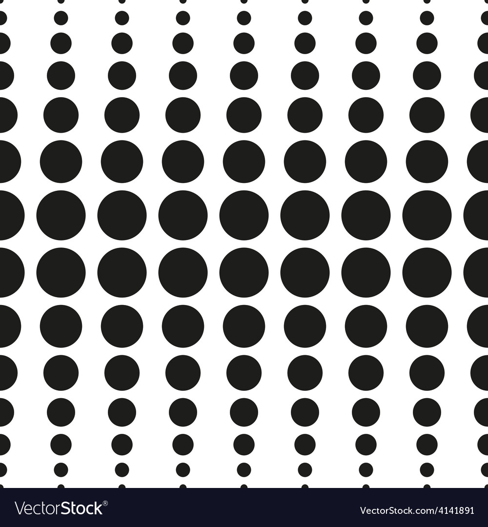 Halftone seamless pattern abstract dotted vector | Price: 1 Credit (USD $1)