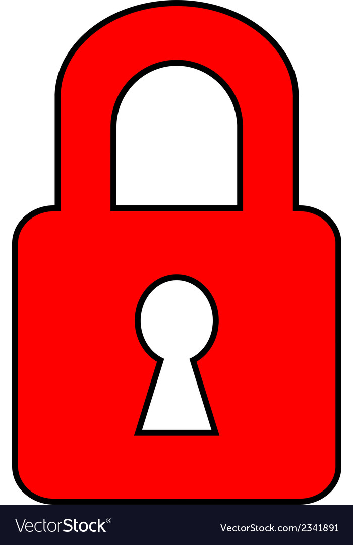 Lock icon vector | Price: 1 Credit (USD $1)
