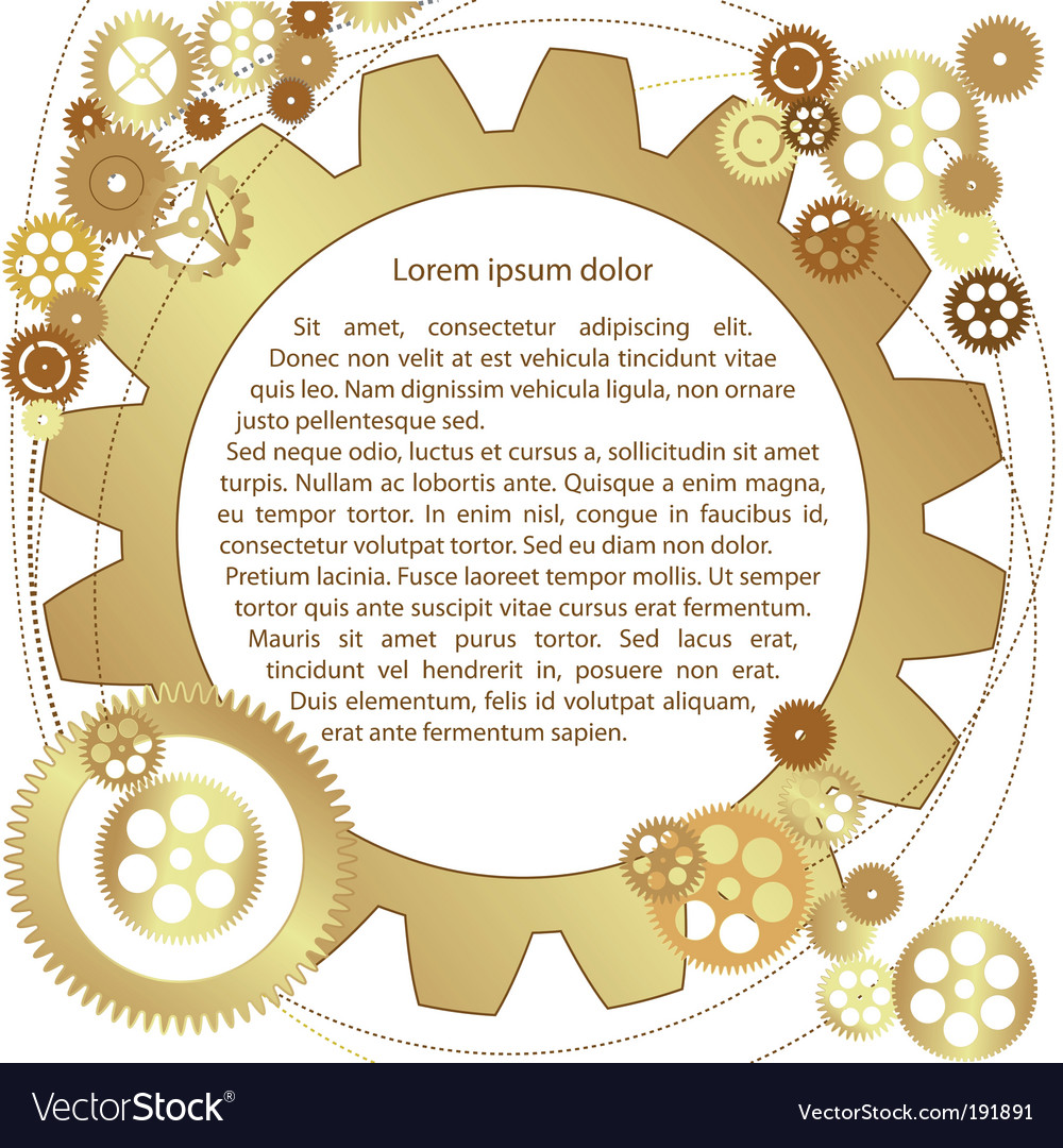 Metallic gears background vector | Price: 1 Credit (USD $1)