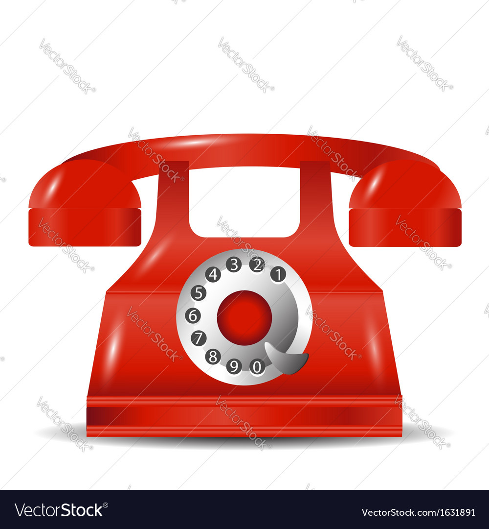 Old red phone vector | Price: 1 Credit (USD $1)