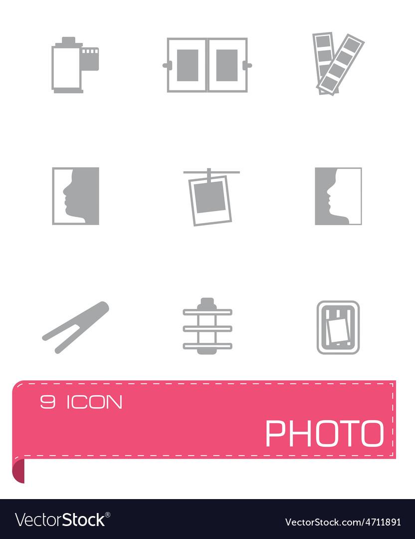 Photo icon set vector | Price: 1 Credit (USD $1)