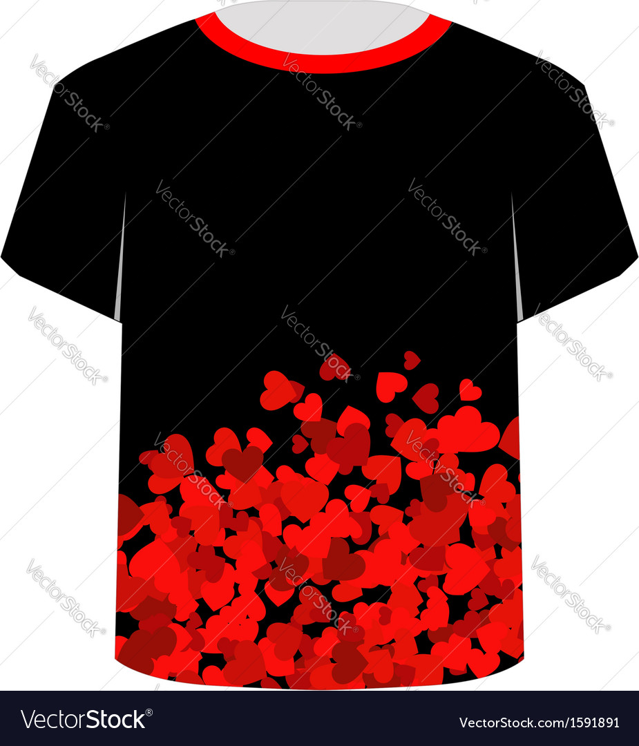 Printable tshirt graphic- heart tee vector | Price: 1 Credit (USD $1)