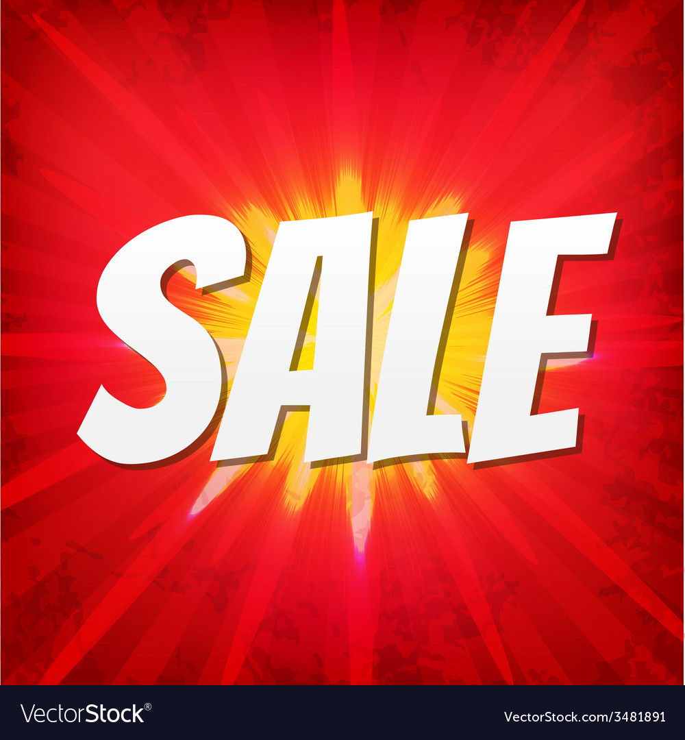 Sale red poster vector | Price: 1 Credit (USD $1)