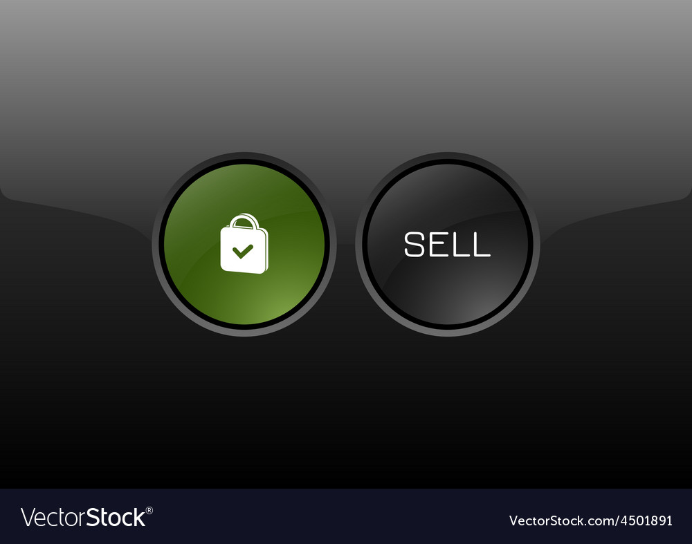 Sell button vector | Price: 1 Credit (USD $1)