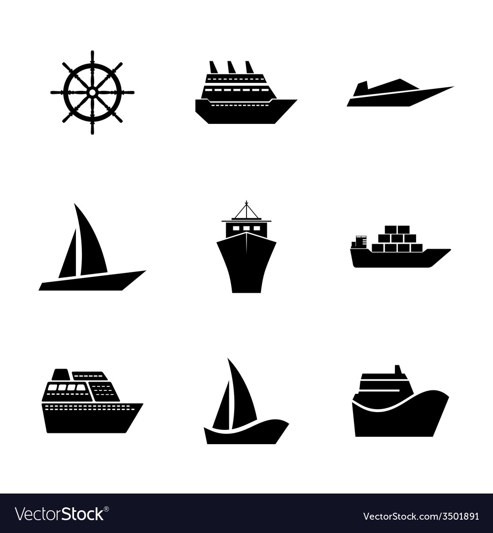 Set icons ships vector | Price: 1 Credit (USD $1)