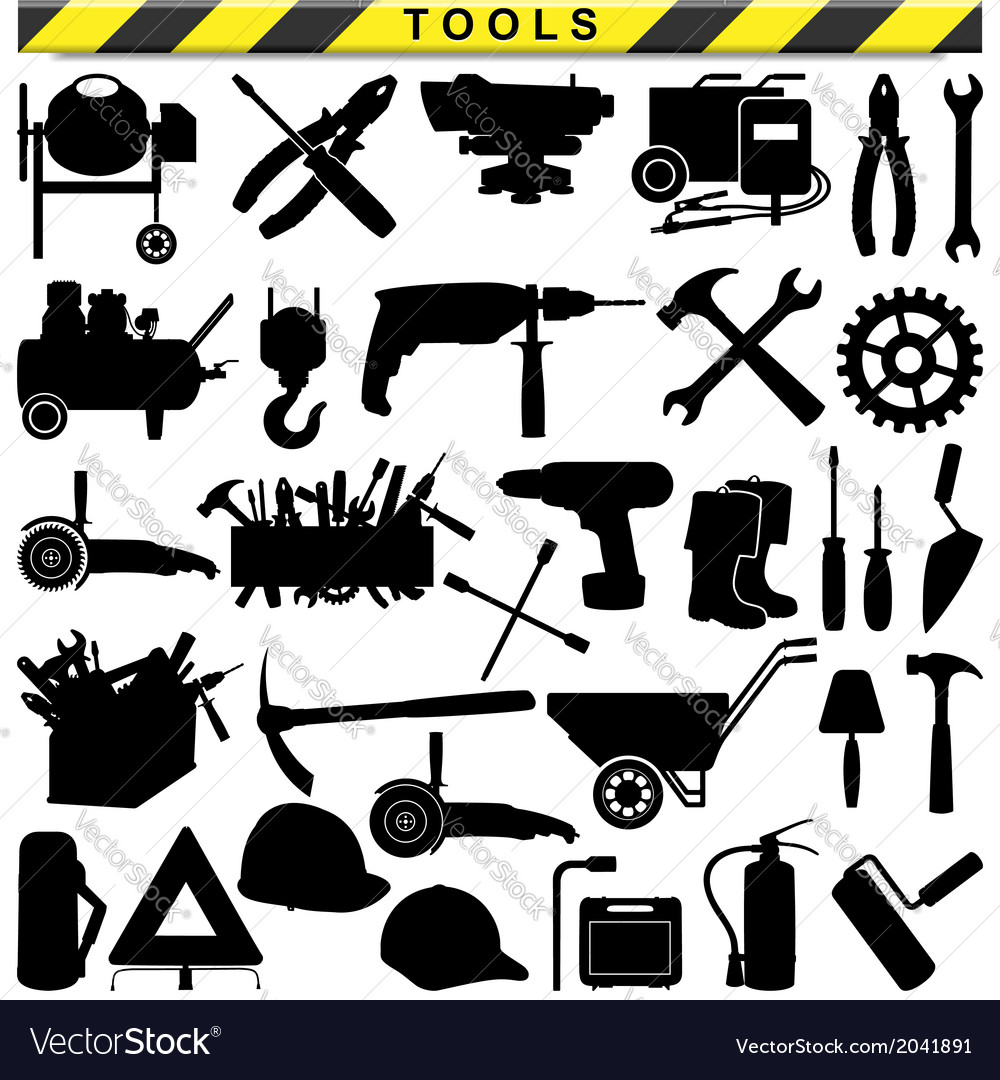 Tool pictograms vector | Price: 1 Credit (USD $1)