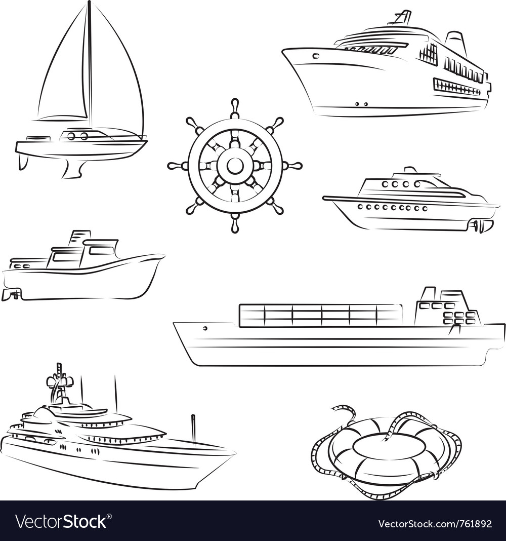 Boats and ships vector | Price: 1 Credit (USD $1)