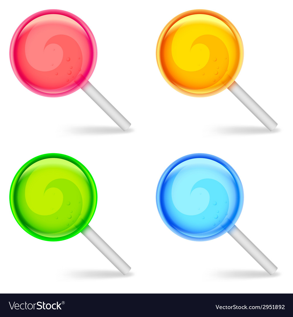 Color lollipops vector | Price: 1 Credit (USD $1)