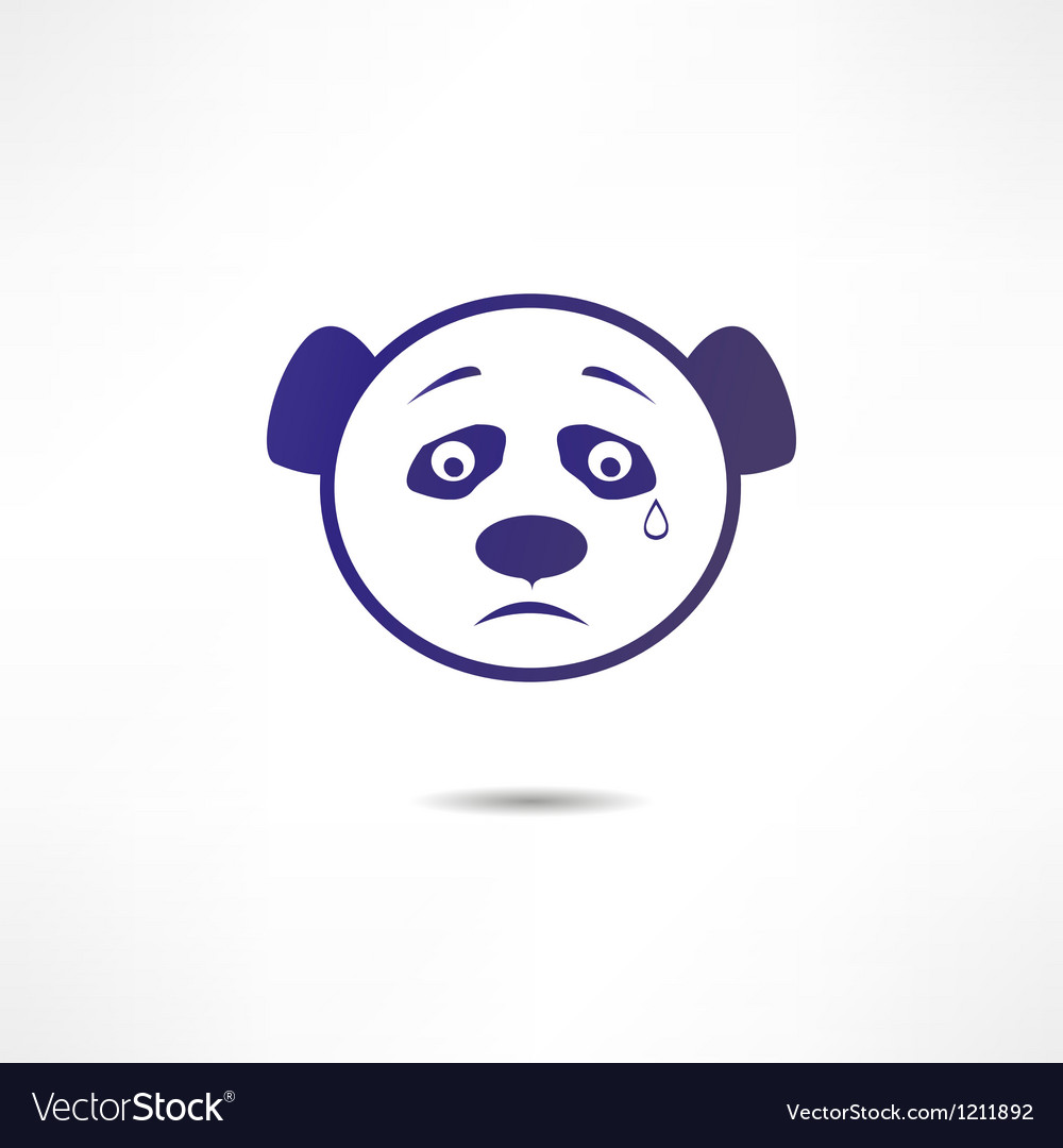 Crying panda vector | Price: 1 Credit (USD $1)