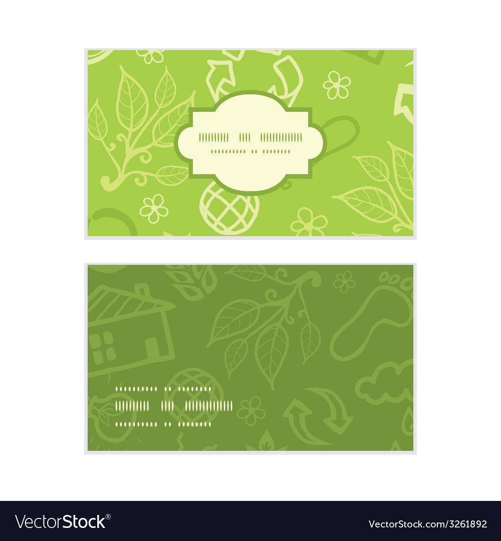Environmental horizontal frame pattern business vector | Price: 1 Credit (USD $1)
