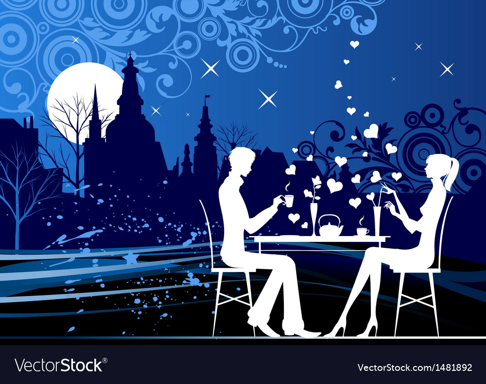 Evening restorant vector | Price: 1 Credit (USD $1)