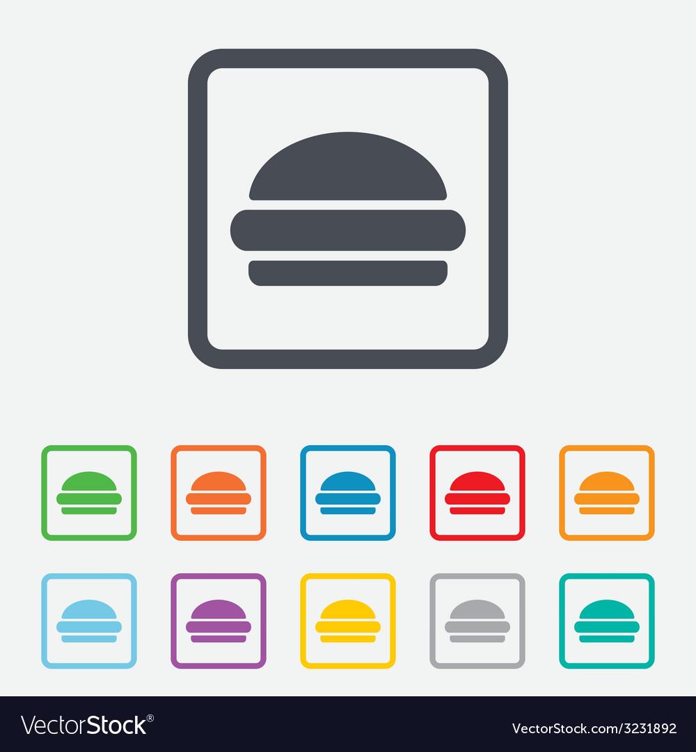 Hamburger sign icon fast food symbol vector | Price: 1 Credit (USD $1)