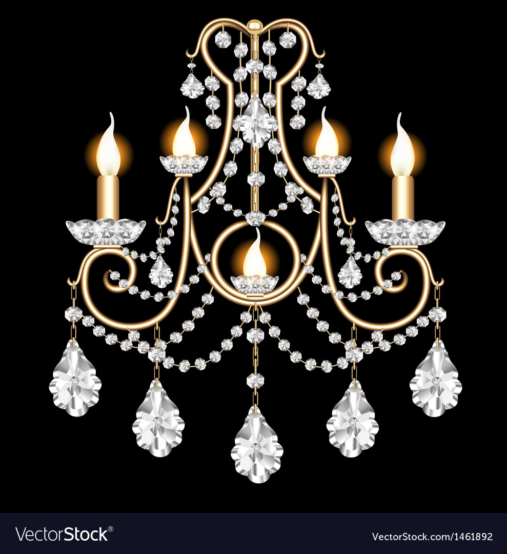 Included sconces with crystal pendants vector | Price: 1 Credit (USD $1)