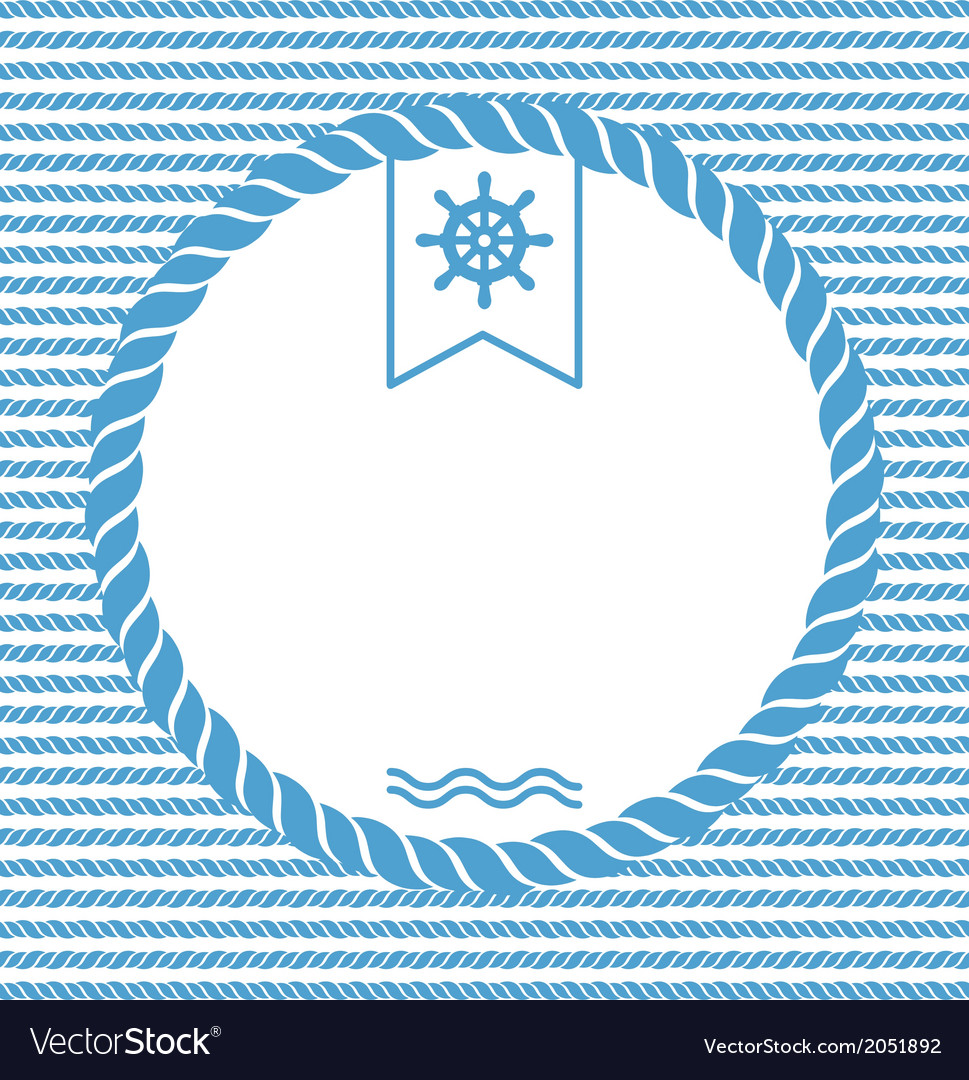 Marine background with ropes vector