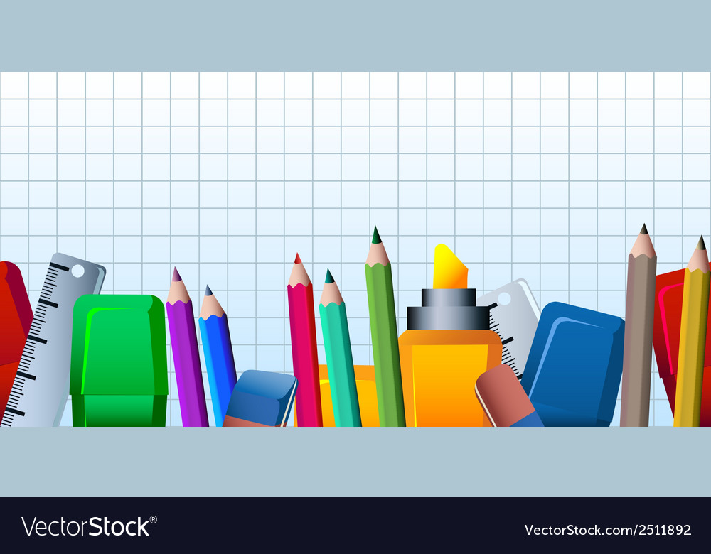 Office supplies pattern vector | Price: 1 Credit (USD $1)
