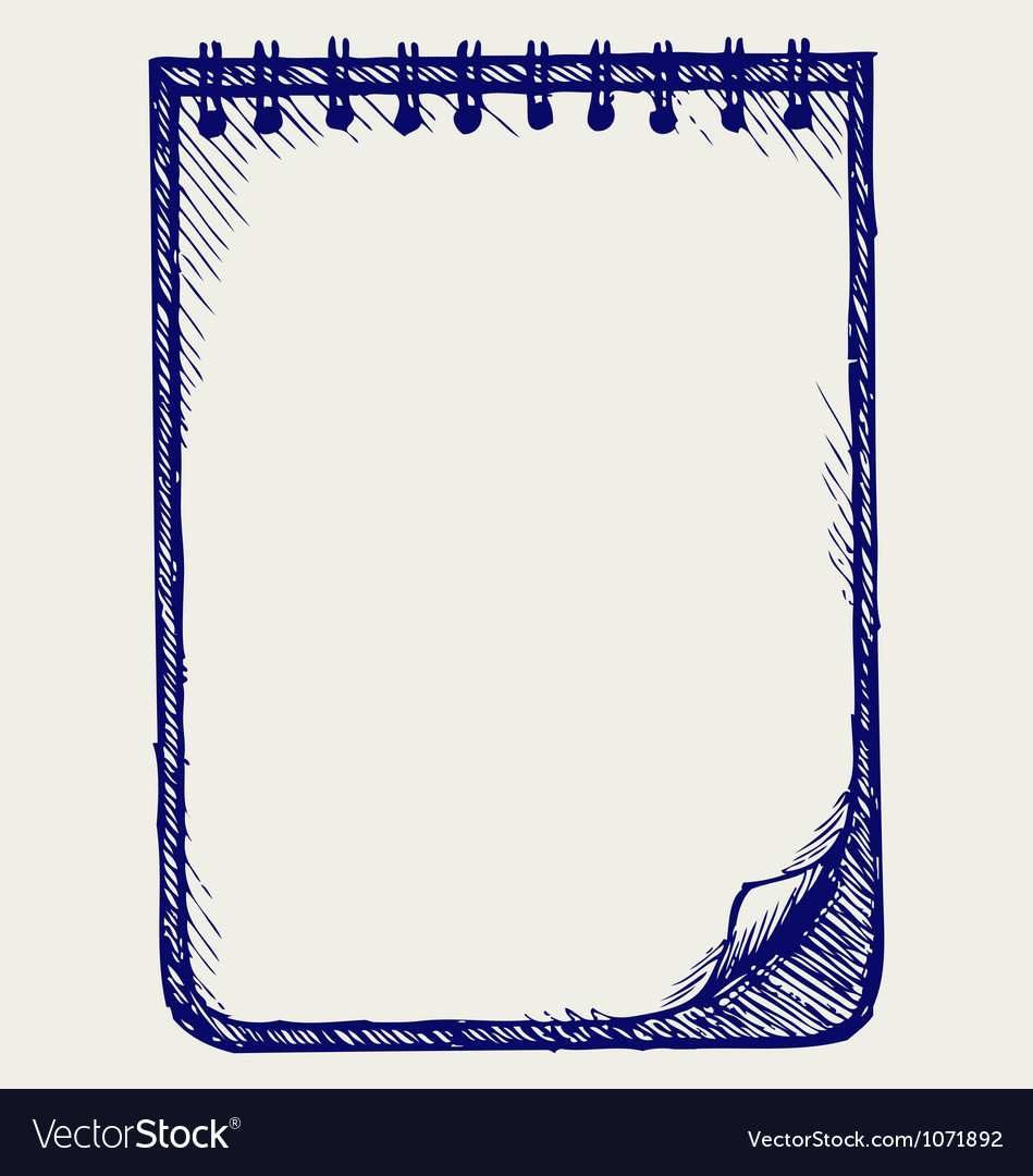 Paper with notebook vector | Price: 1 Credit (USD $1)