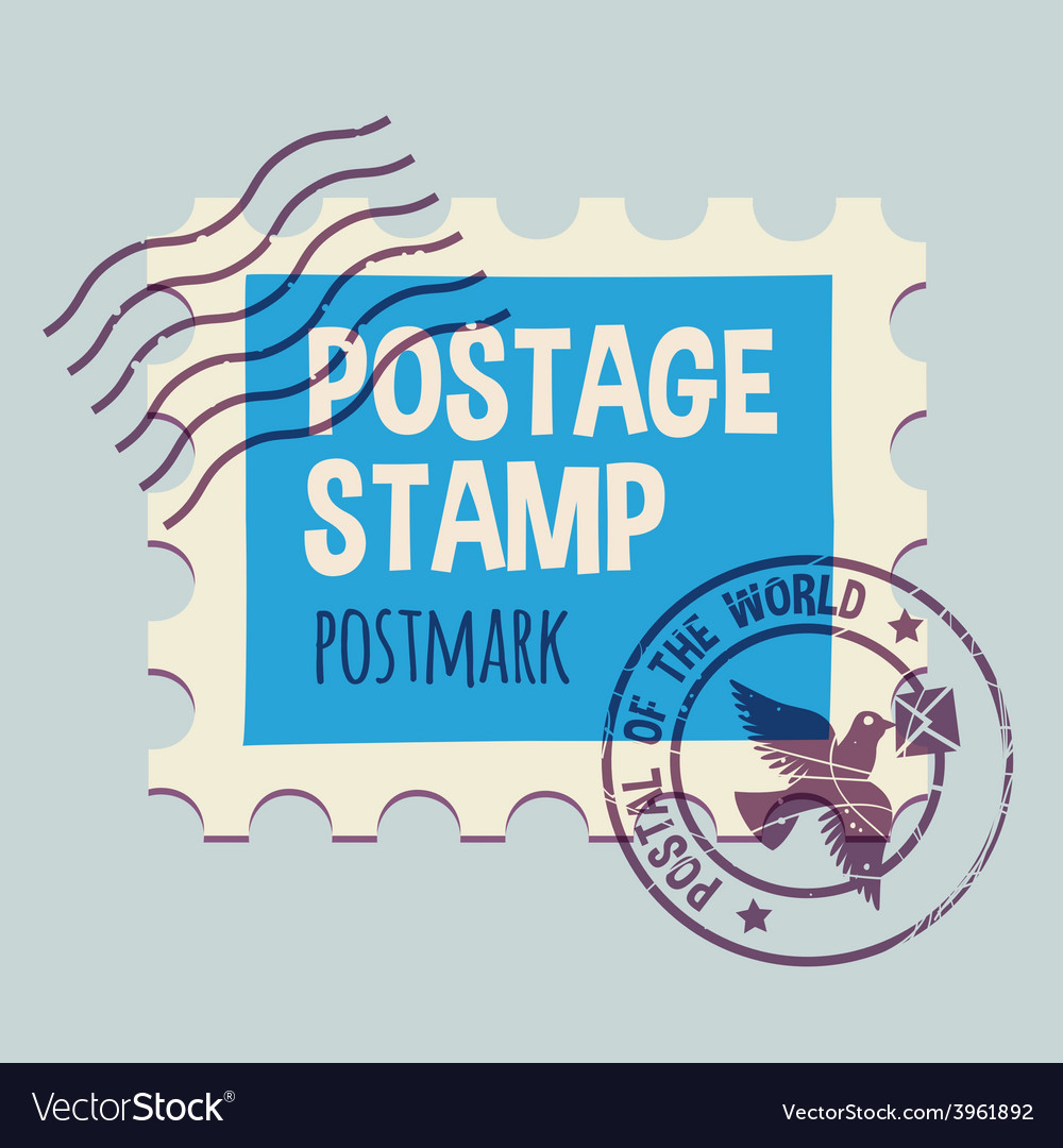 Postmark template vector | Price: 1 Credit (USD $1)