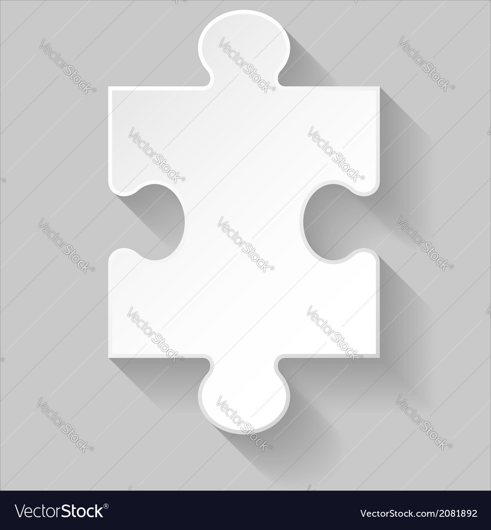 Puzzle piece vector | Price: 1 Credit (USD $1)