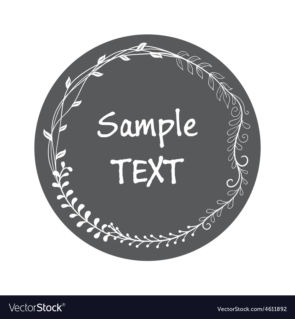Sticker card vintage style hand drawing vector | Price: 1 Credit (USD $1)