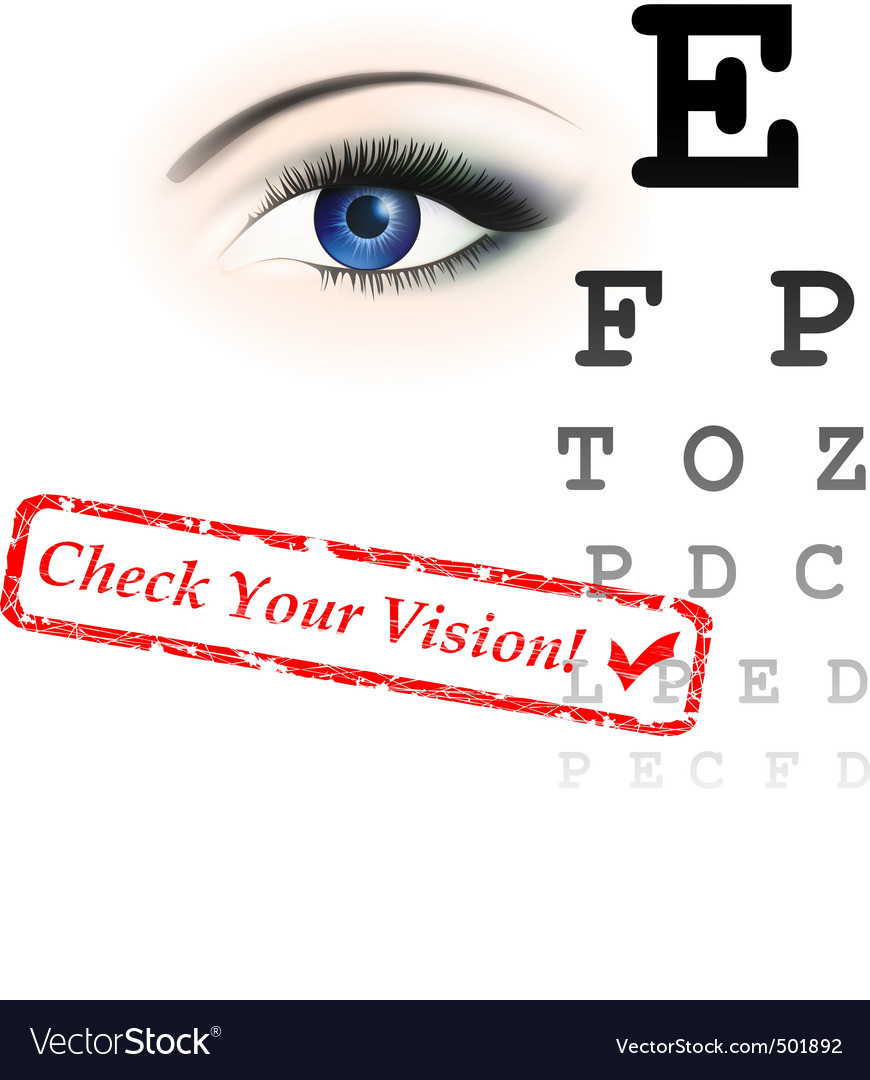 Vision test vector | Price: 1 Credit (USD $1)