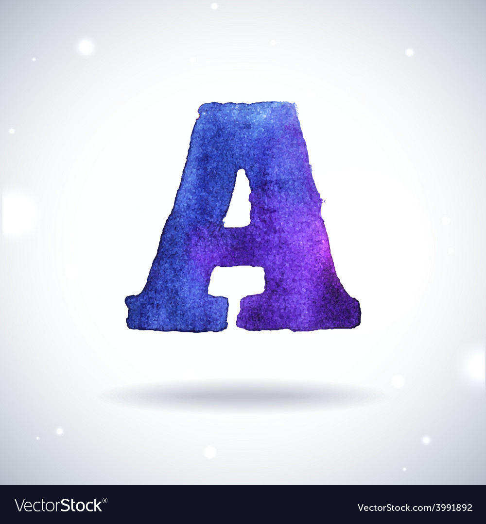 Watercolor letter a vector