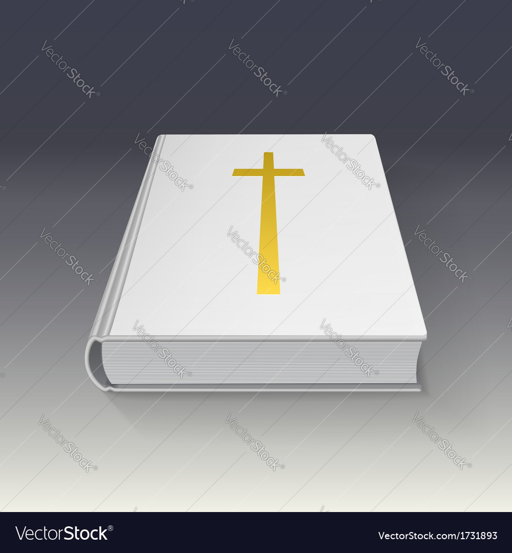 Book with gold cross vector | Price: 1 Credit (USD $1)