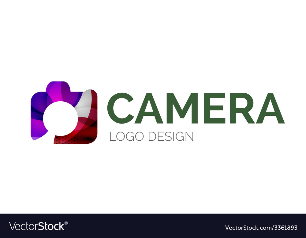 Camera logo design made of color pieces vector   Price: 1 Credit (USD $1)
