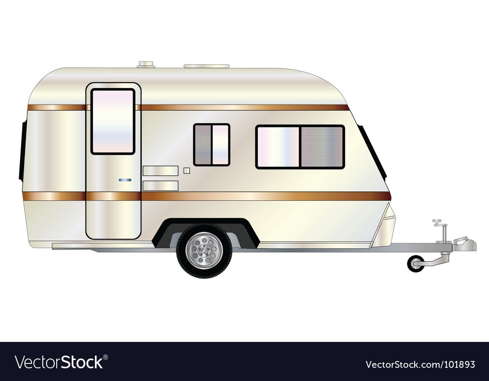 Camp trailer vector | Price: 1 Credit (USD $1)