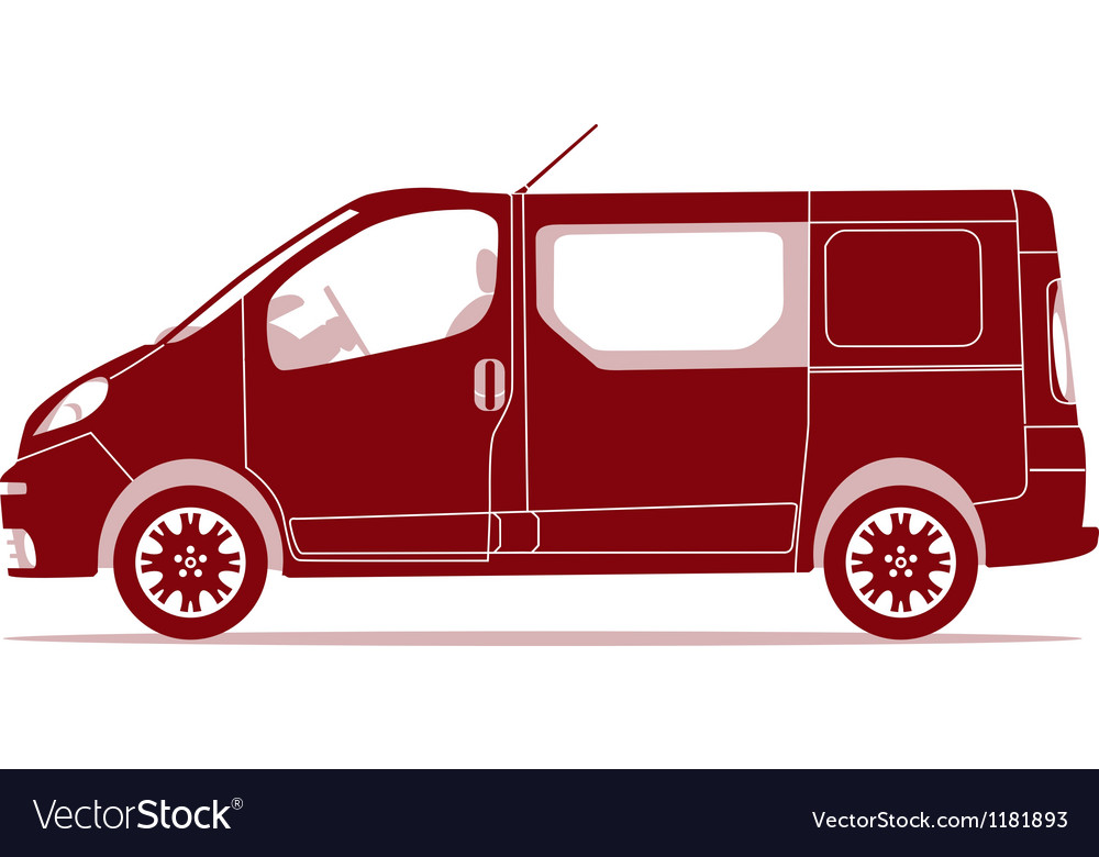 Car silhouette - van vector | Price: 1 Credit (USD $1)