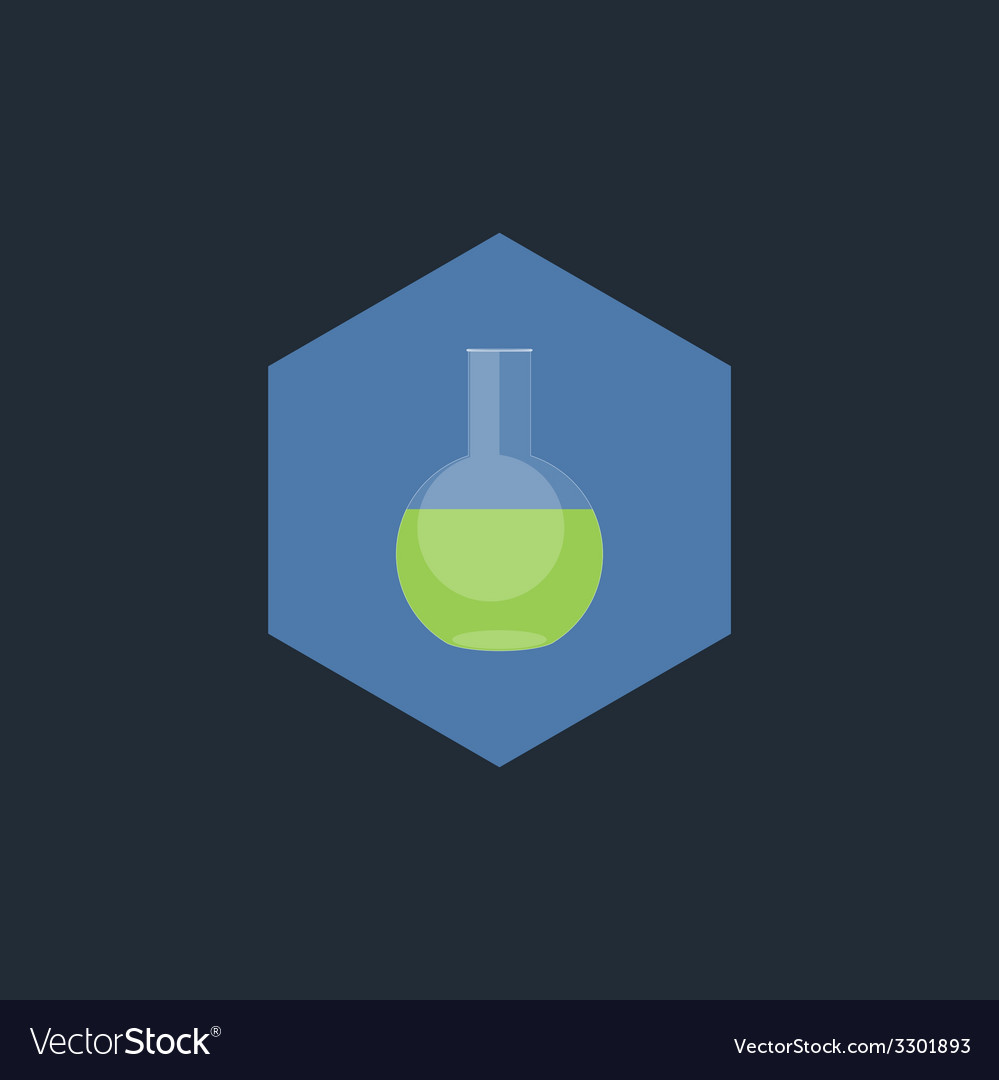 Chemical test tubes  flat icon vector | Price: 1 Credit (USD $1)