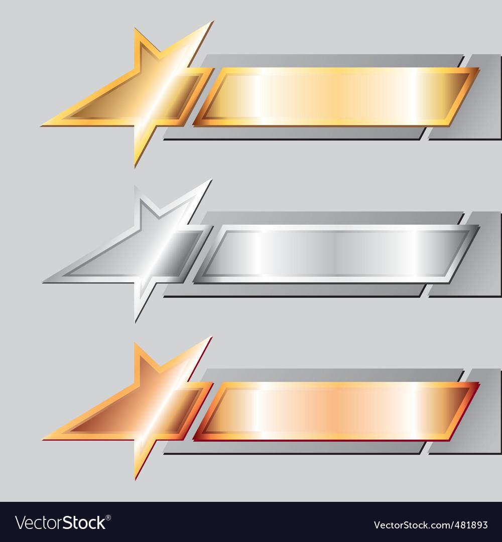 Metal emblems vector | Price: 1 Credit (USD $1)